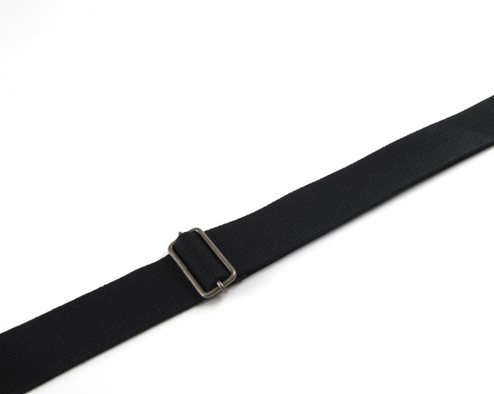 Guitar leather snap fit belt